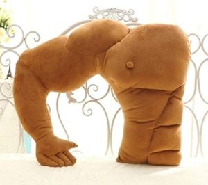 SeaISee Muscle Man Body Arm Plush Cotton Pillow