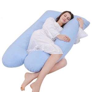 ComfySure Pregnancy Full Body Pillow - U Shaped Maternity and Nursing Cushion with Removable White Cover - Back, Neck Hip Support and Relief - Firm and Plush